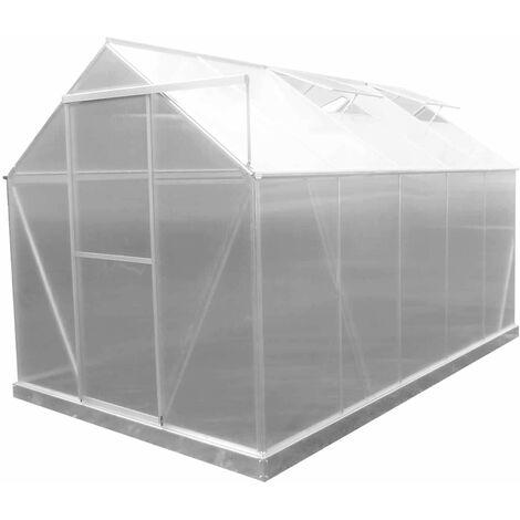 Serre de Jardin en Polycarbonate/Aluminium Lunada - 6 m² 310x193x190 cm avec Base 5 Modules