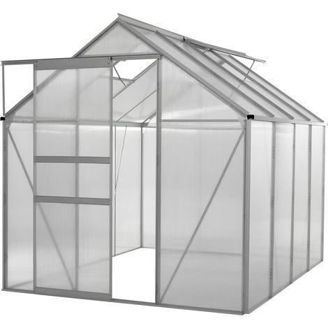Serre de Jardin en Polycarbonate et Aluminium  Tente Abri pour Légume, Plantes   9,6m³