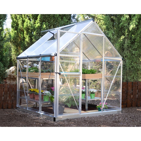 Serre de jardin en polycarbonate Hybrid 3,44 m²