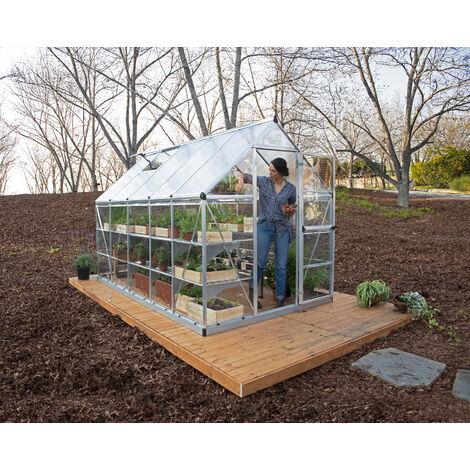 Serre de jardin en polycarbonate Hybrid 5,66 m²