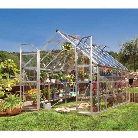 Serre de jardin en polycarbonate Octave 8,8 m² - longueur : 3.67m