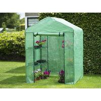 Serre de jardin en polyéthylène 140gr/m² 143x143cm