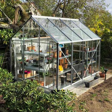 Serre de jardin en verre trempé Vénus
