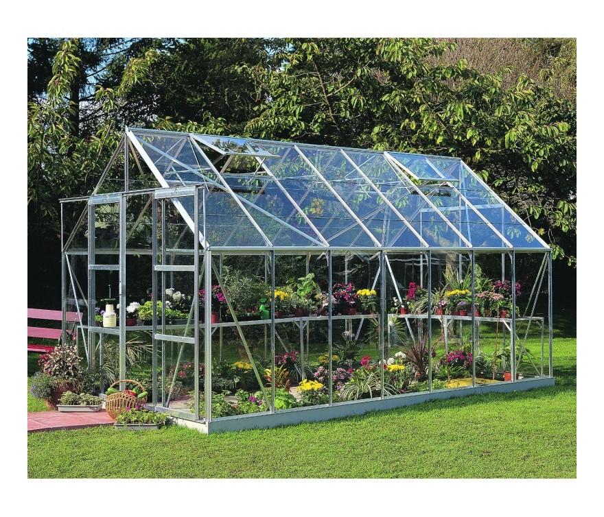 Serre de jardin 11,5m² en verre horticole Magnum - Halls -