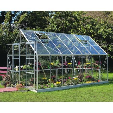 Serre de jardin Magnum 11.5m² en aluminium et verre horticole - Halls