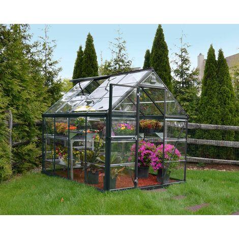 Serre de jardin polycarbonate Harmony grey 4,6 m² - PALRAM