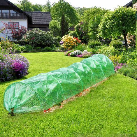 Serre de jardin tunnel de culture abri de plantes légumes fruits 300x55x35 cm