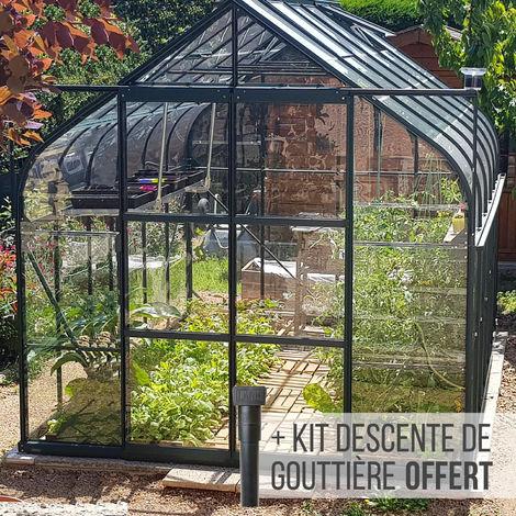 Serre en verre trempé 3 mm ALOE 9,70 m² - Verte