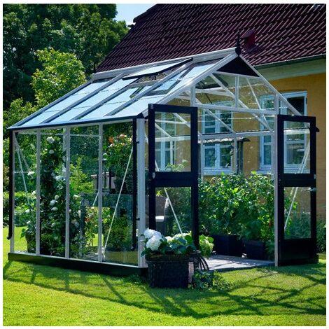 Serre en verre trempé Premium 8.8 m²