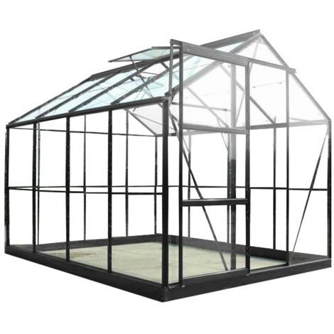 Serre en verre trempé Sekurit 4,65 m² + base - Chalet et Jardin