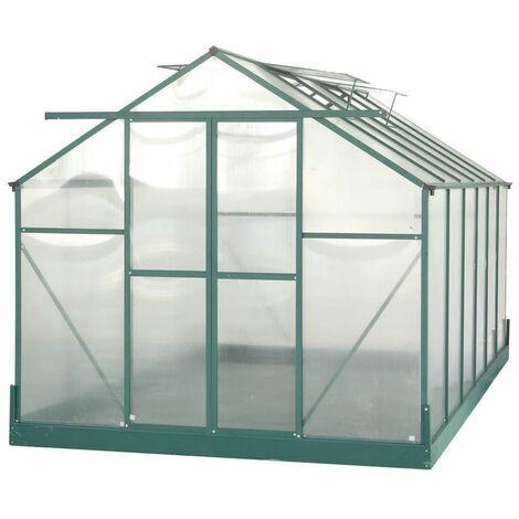 Serre jardin aluminium - avec base et 4 fenêtres / 10,37 m2
