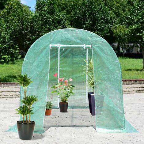 Serre jardin Tunnel 350*200*200cm PE Serre à tomates en Acier ...