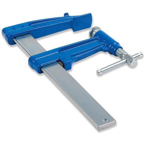 Serre-joint à pompe 25 cm section 30 x 8 mm saillie de 90 mm et frein antiglissant - 1520025 - Urko