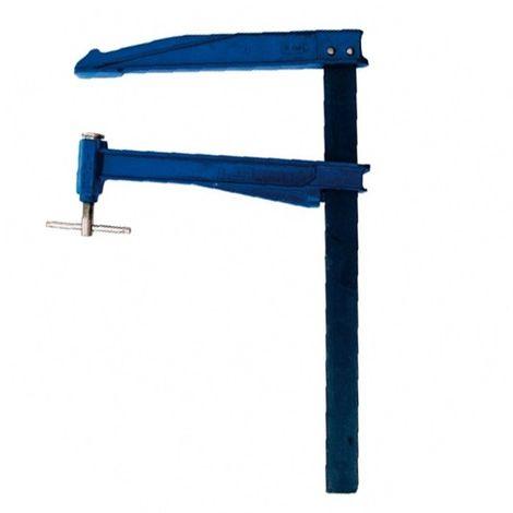Serre-joint à pompe saillie large 300 mm section 40 x 10 mm L. 800 mm - 300.410.080 - Leman