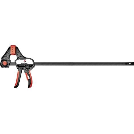 Serre-joint à une main 450 / 85 mm TOOLCRAFT 1544400 Envergure max.:450 mm Mesures dempattement:85 mm
