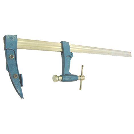 Serre joint charpentier URKO - serrage 800mm - saillie 120mm - rail 35x8mm - 4003J