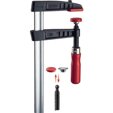 Serre-joint en fonte malléable, Capacité de serrage : 500 mm, Portée 120 mm, Glissière 35 x 11 mm