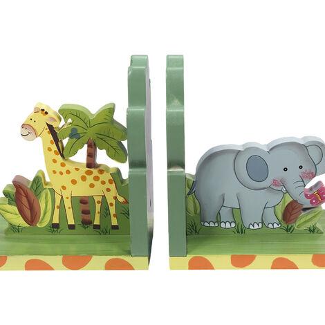Serre-livres enfant Sunny Safari pour cadeau déco étagère bibliothèque W-9837A