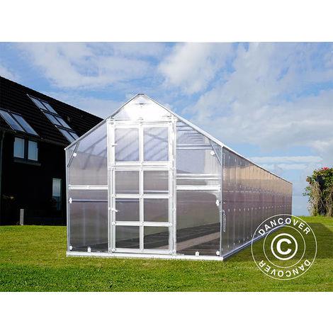 Serre polycarbonate TITAN Classic 480, 23,8m², 2,35x10,12m, Argent