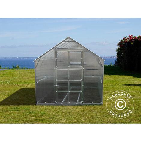 Serre polycarbonate TITAN Classic 480, 4,9m², 2,35x2,12m, Argent