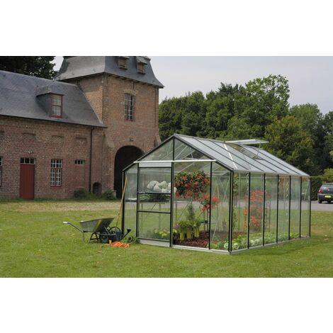 Serre ROYAL en verre horticole 4 mm avec embase ACD - 7 m² OU 13,70m²