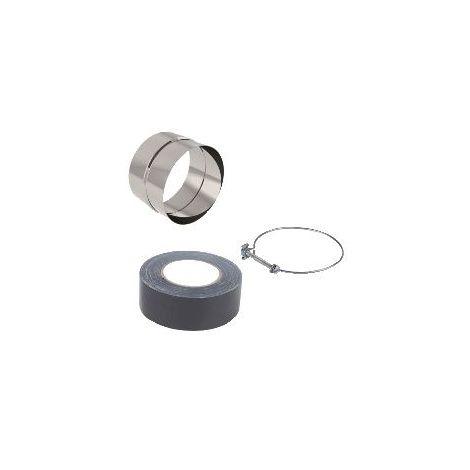 Serre-tube nylon noir ø80-125