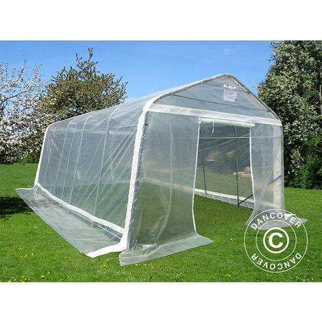 Serre tunnel, 3,6x8,4x2,68m, PE, 30,24m², Transparent