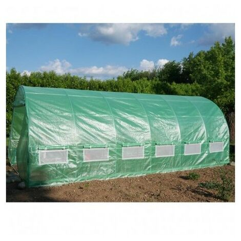 Serre tunnel 3x6m film 200gr/m² hauteur 2,25m Green Protect