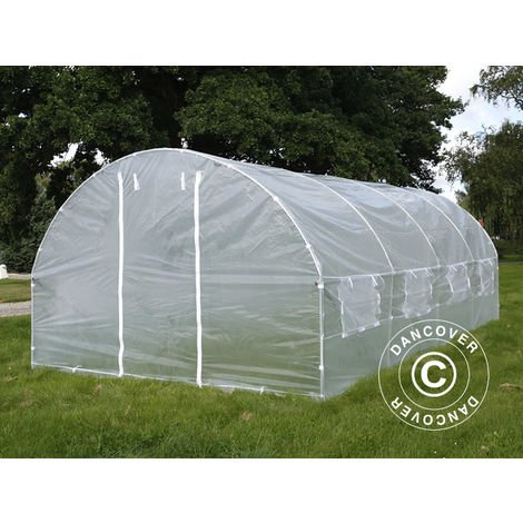 Serre Tunnel 3x6x2m, 18m², Transparent