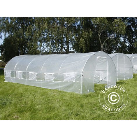 Serre Tunnel 3x8x2m, 24m², Transparent