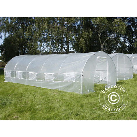 Serre Tunnel 4x8x2m, 32m², Transparent