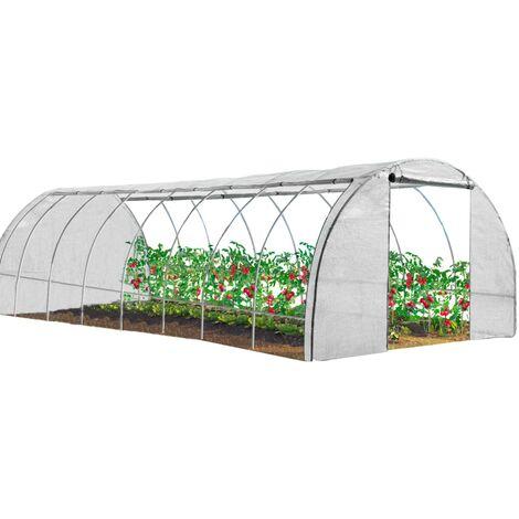 """main image of """"Serre tunnel de jardin 4 saisons 24M² blanche gamme maraîchère DES ANDES 8x3M"""""""