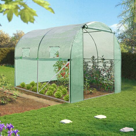 Serre tunnel de jardin 4 saisons 6M² verte gamme maraichère ROMA 2x3M