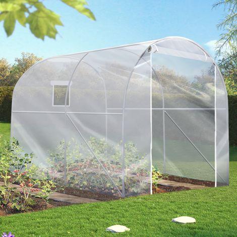 Serre tunnel horticole maraichère 6 m² 2x3x2 M bâche PVC 200gr/m²