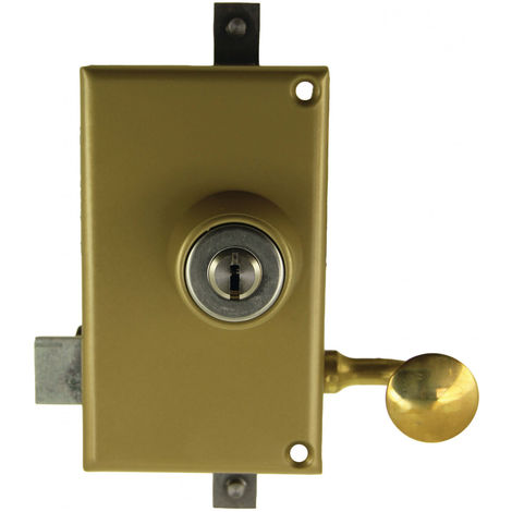 Serrure 3 points KESO 4000S OMEGA vertical tirage cylindre de 45mm gauche - JPM - 510000-82-2AFB