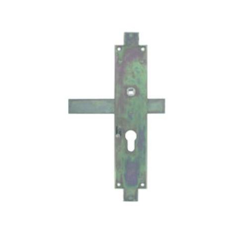 Serrure 3ème point long pênes droits TIRARD zinguée pour portail - Gauche - CE112205