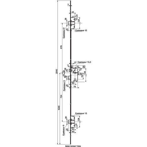 Serrure 5000 Trilock A2P** SGN2 Vachette