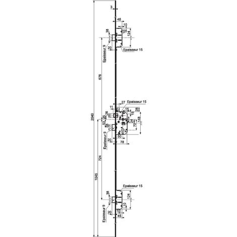 Serrure 5000 Trilock A2P* Vachette