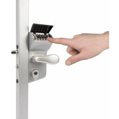 Serrure à code mécanique, portail battant, profil carrée 40mm à 60mm LOCINOX - LMKQ4040V2L.