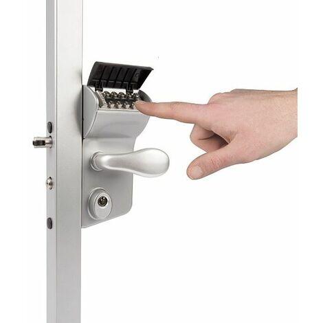 Serrure à code mécanique, portail battant, profil carrée 60mm à 80mm LOCINOX - LMKQ6060V2L.