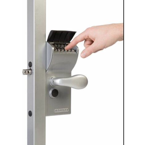 Serrure à code mécanique, portail, profil carrée 60-80mm/ sortie libre LOCINOX - LFKQ6060X1L.