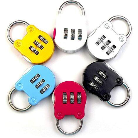 Serrure à Combinaison 6 PCS Cadenas à Combinaison, Cadenas Code 3 Chiffres, Mini Cadenas à Combinaison Réinitialisables Coloré, pour Lockers Gym, école, Clôture et Entreposage etc, Coloré