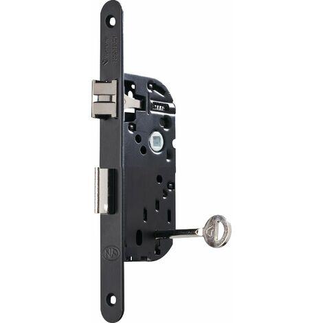 Serrure a encastrer 3 gorges - noir - 2 clés + gache incluse - ASSA ABLOY