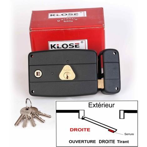 Serrure Monopoint KLOSE besser en Applique à Fouillot Horizontale 140x92mm - (Similaire JPM CISA....) 3 clés | 45mm - Droite