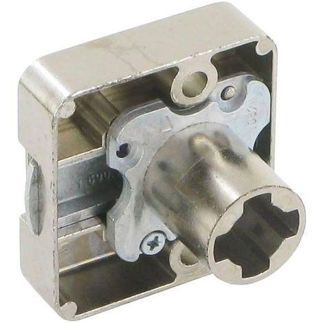 Serrure à plaquer - Décor : Nickelé - Sens : Réversible - Axe : 25 mm - Barillet : Z23 - LEHMANN - Barillet : Z23