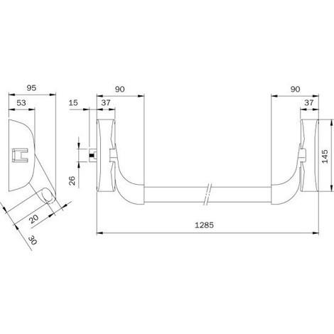 Serrure anti-panique IDEA barre coupe-feu 1 point latéral ISEO - plusieurs modèles disponibles