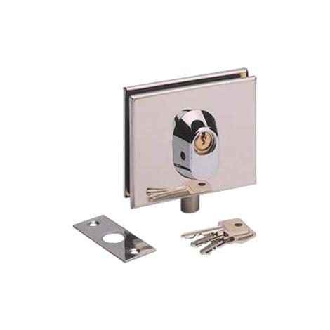 "main image of ""Serrure basse inox poli METALUX pour porte en verre - NM60411000"""