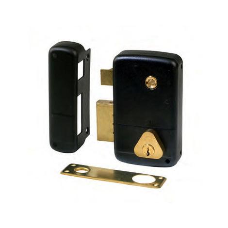 Serrure CISA en applique verticale à fouillot (cyl 45mm, sens droit)