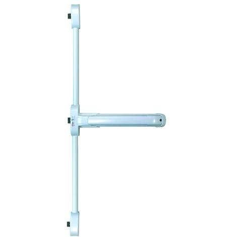 Serrure coupe-feu Push Idea 3 points latéraux ISEO barre grise 840 mm - Blanc - 942608444TA