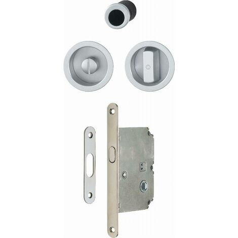 Serrure+cuvette+doigt 4920 WC HOPPE pour porte coulissante - chromé brillant - 3948041